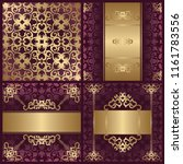 set of three cards and template ... | Shutterstock . vector #1161783556