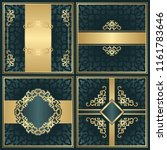 set of invitations with vintage ... | Shutterstock . vector #1161783646