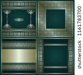 set of cards with decorative... | Shutterstock . vector #1161783700