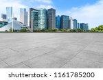 blue sky  empty marble floor... | Shutterstock . vector #1161785200
