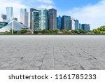 blue sky  empty marble floor... | Shutterstock . vector #1161785233