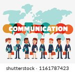 young businessmen and business... | Shutterstock .eps vector #1161787423