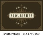 vintage ornament greeting card... | Shutterstock .eps vector #1161790150
