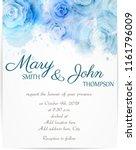 wedding invitation template... | Shutterstock . vector #1161796009