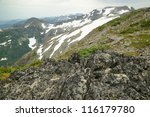 Small photo of mountain Albert Edward and valley in strathcona provincial park, vancouver island, bc, Canada