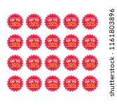 sale tags set vector badges...   Shutterstock .eps vector #1161803896