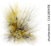 abstract yellow fractal... | Shutterstock . vector #116180458