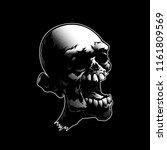 creepy zombie skull. musical... | Shutterstock .eps vector #1161809569