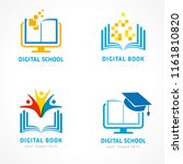 set of online education logo... | Shutterstock .eps vector #1161810820