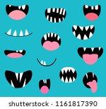 vector monster mouths  open and ...   Shutterstock .eps vector #1161817390