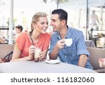 cute couple having fun | Shutterstock . vector #116182060