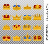 isolated monarch blinking crown ... | Shutterstock .eps vector #1161821743