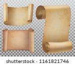 isolated set of antique or old... | Shutterstock .eps vector #1161821746
