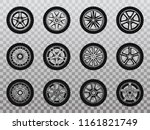 isolated wheel  tyre and tire... | Shutterstock .eps vector #1161821749
