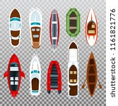 top view on fisherman boats on... | Shutterstock .eps vector #1161821776
