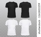 amazing mockup blank t shirts... | Shutterstock .eps vector #1161822259