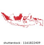 vector of isolated indonesia... | Shutterstock .eps vector #1161822409