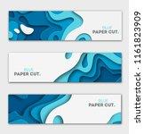 paper cut design concept for...   Shutterstock .eps vector #1161823909