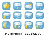 weather icons set with various... | Shutterstock .eps vector #116182396