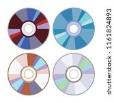 vector dvd or cd disc icons... | Shutterstock .eps vector #1161824893