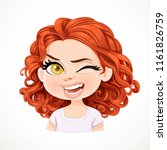beautiful cheerily wink cartoon ... | Shutterstock .eps vector #1161826759