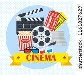 movie poster template. cinema... | Shutterstock . vector #1161827629