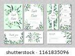 eucalyptus design. wedding... | Shutterstock .eps vector #1161835096