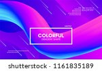 vector 3d colorful fluid shapes.... | Shutterstock .eps vector #1161835189