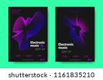poster of electronic music... | Shutterstock .eps vector #1161835210