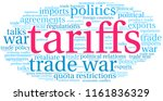 tariffs word cloud on a white...   Shutterstock .eps vector #1161836329