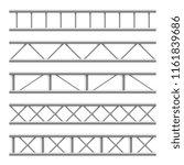 steel truss girder seamless... | Shutterstock .eps vector #1161839686