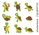 cartoon turtle. cute tortoise... | Shutterstock .eps vector #1161839710