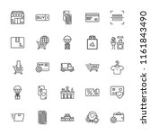 collection of 25 retail outline ... | Shutterstock .eps vector #1161843490