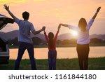 asian family enjoying. happy...   Shutterstock . vector #1161844180