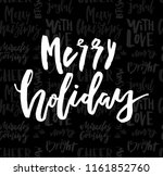 merry christmas card with... | Shutterstock .eps vector #1161852760