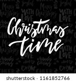 merry christmas card with... | Shutterstock .eps vector #1161852766