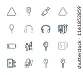 portable icon. collection of 16 ... | Shutterstock .eps vector #1161852859