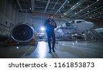 aircraft maintenance mechanic... | Shutterstock . vector #1161853873