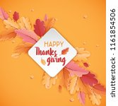 happy thanksgiving holiday... | Shutterstock .eps vector #1161854506