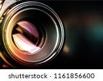 camera lens shutter  close up | Shutterstock . vector #1161856600