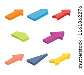 set of eight colorful isometric ... | Shutterstock .eps vector #1161862276