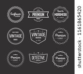 vector set of vintage retro... | Shutterstock .eps vector #1161865420