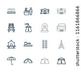 tourist icon. collection of 16... | Shutterstock .eps vector #1161866866