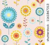 folk floral seamless pattern....   Shutterstock .eps vector #1161867313