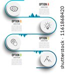 vector infographic template... | Shutterstock .eps vector #1161868420
