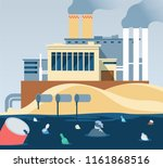 industrial waste. polluted... | Shutterstock .eps vector #1161868516