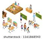 isometric school. children and...   Shutterstock .eps vector #1161868543