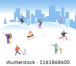 merry christmas background with ... | Shutterstock .eps vector #1161868600