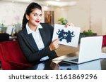 beautiful female indian... | Shutterstock . vector #1161869296