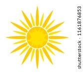 sun symbol icon on white  stock ... | Shutterstock . vector #1161876853